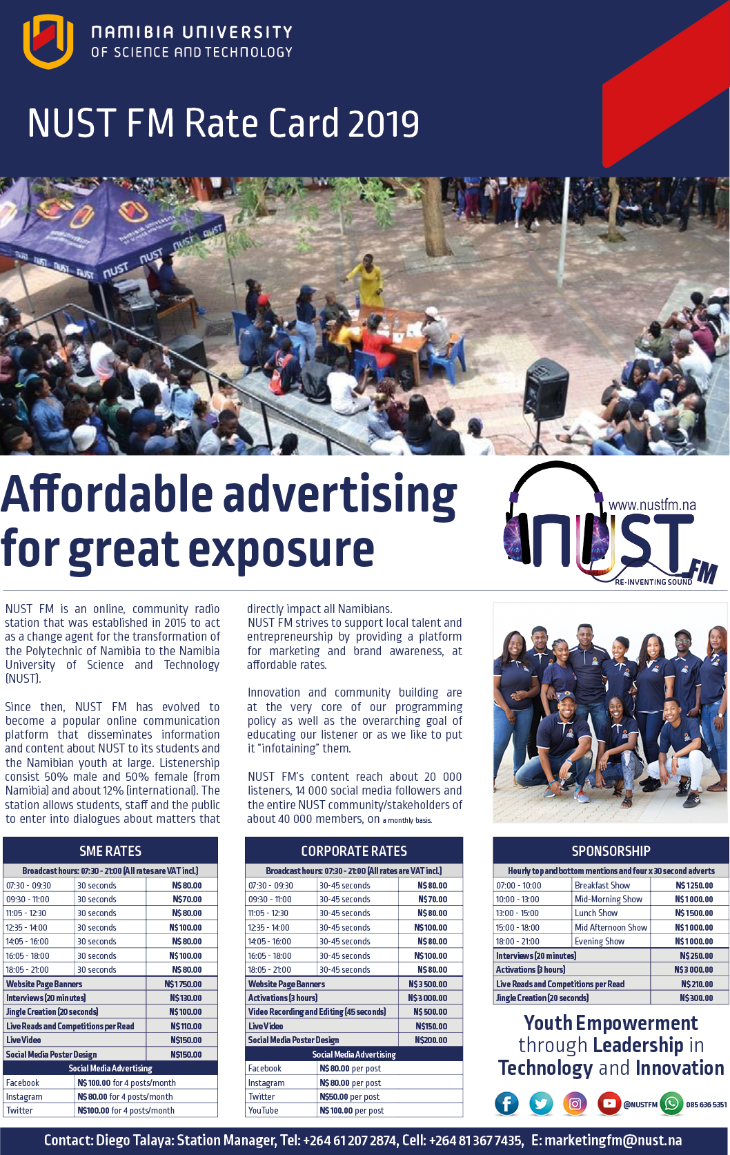 Advertise with us – NUST FM